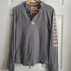 Hollister Grey Long Sleeve Top